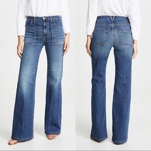 Veronica Beard Crosbie Wide Leg High Rise Jeans